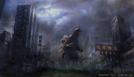 Godzilla Destroyed City by WoGzilla
