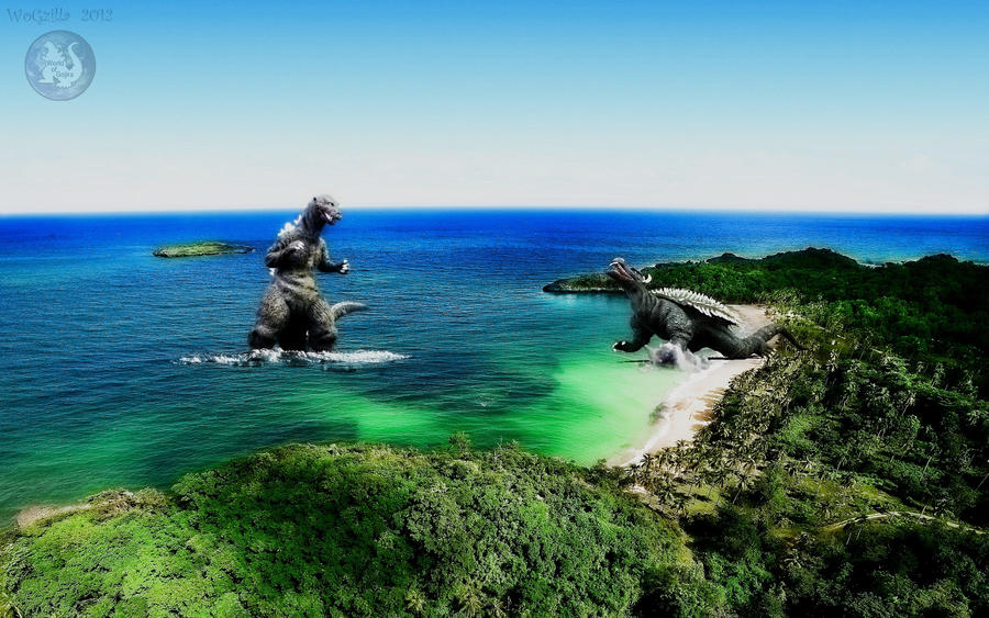 Godzilla Caribbean battle by WoGzilla