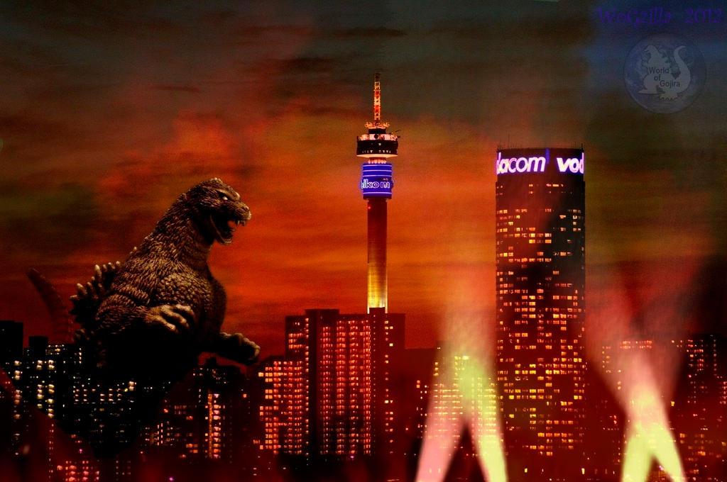 Godzilla in the City Wallpaper by WoGzilla