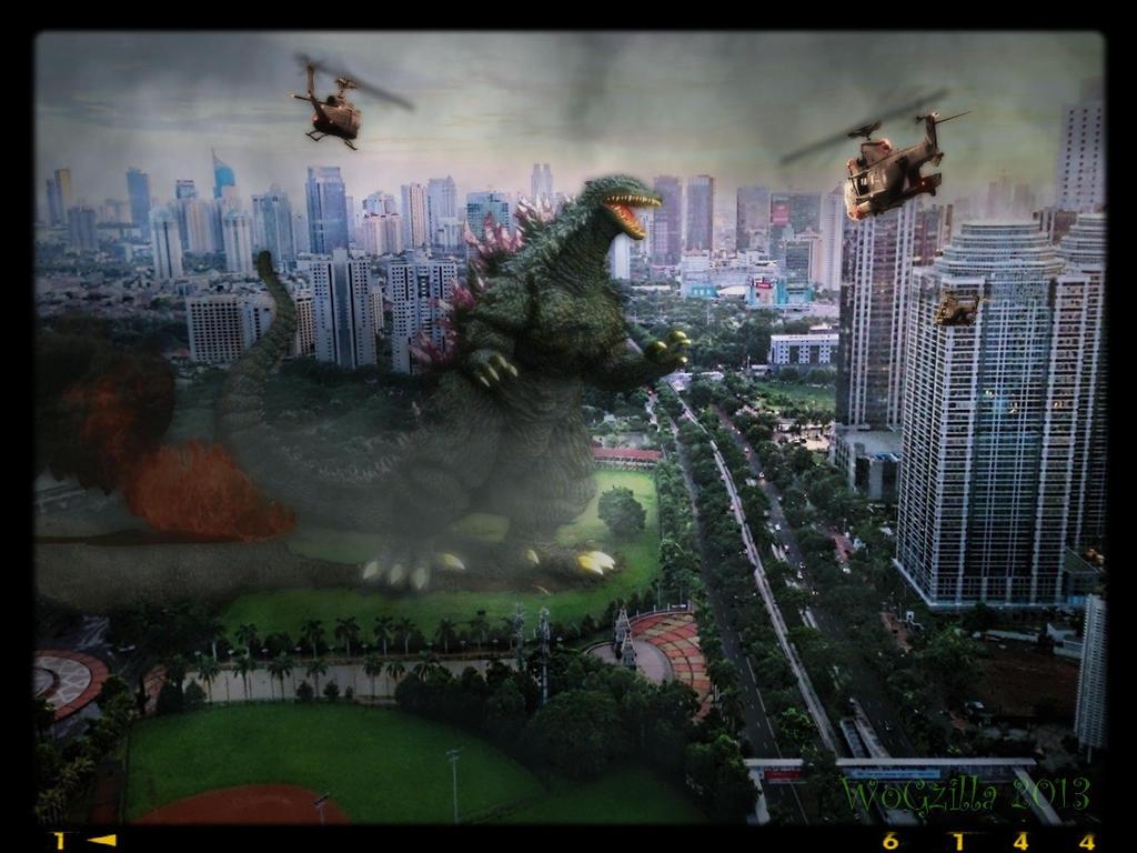 Godzilla 2000 visits Jakarta by WoGzilla