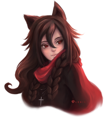 [Comm] Red Scarf by Vlonic