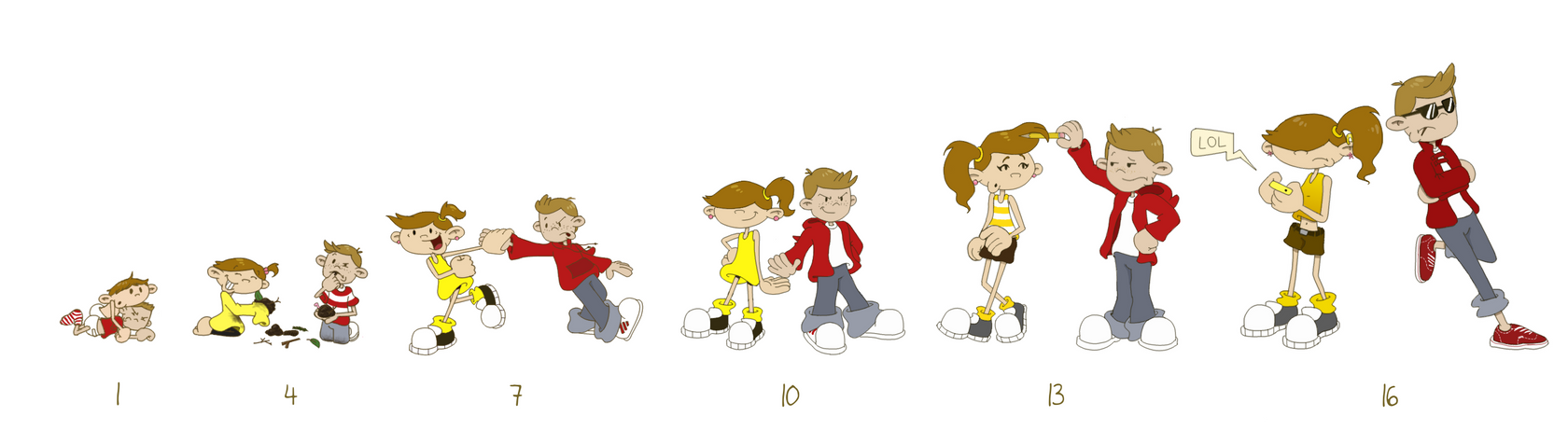 A Timeline of Friendship by man5ray