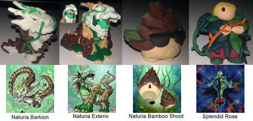 Plasticine Yu-Gi-Oh monsters by DarkShinyCharizard