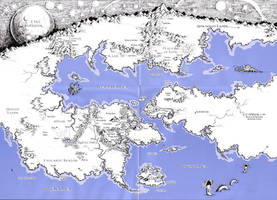 HP Lovecraft dreamland map by trueraziel