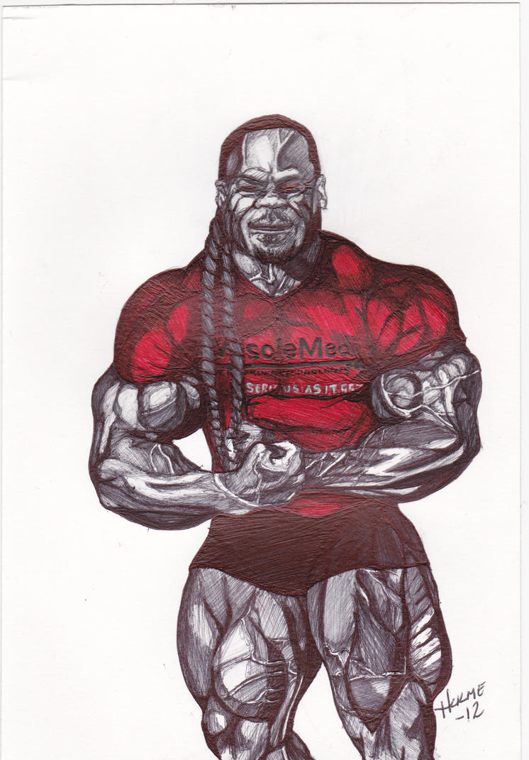 Kai greene by hulme47 on deviantart for Kai greene painting