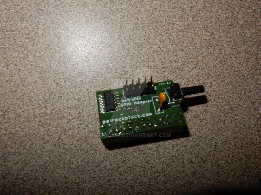 GPIO adapter soldering front