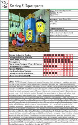 Stanley S Squarepants Notepage