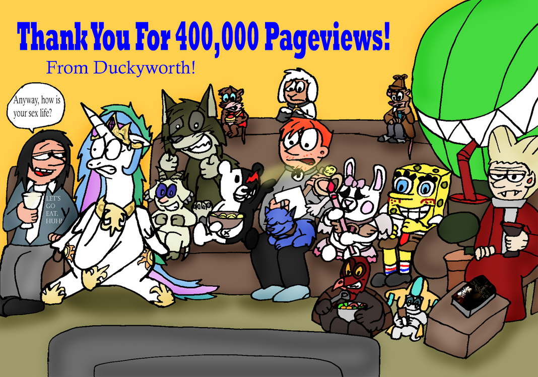 400,000 Pageviews by Duckyworth