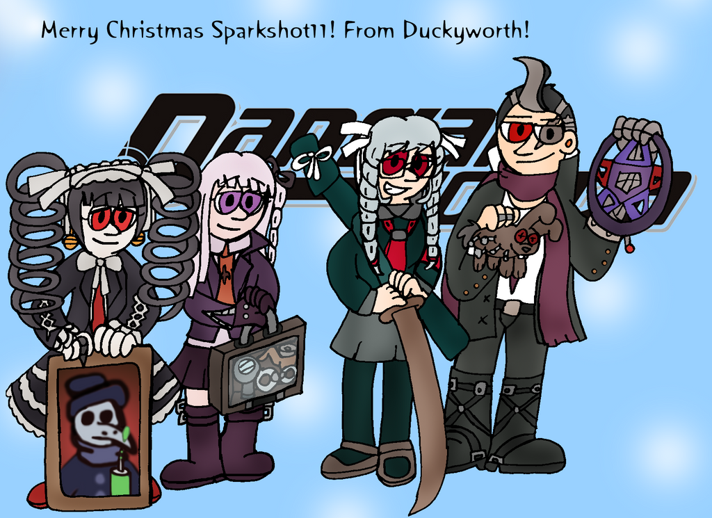 Danganronpa Christmas (Xmas Gift for Sparkshot11) by Duckyworth on ...