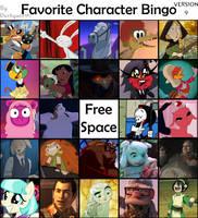 Fave Character Bingo Version 9