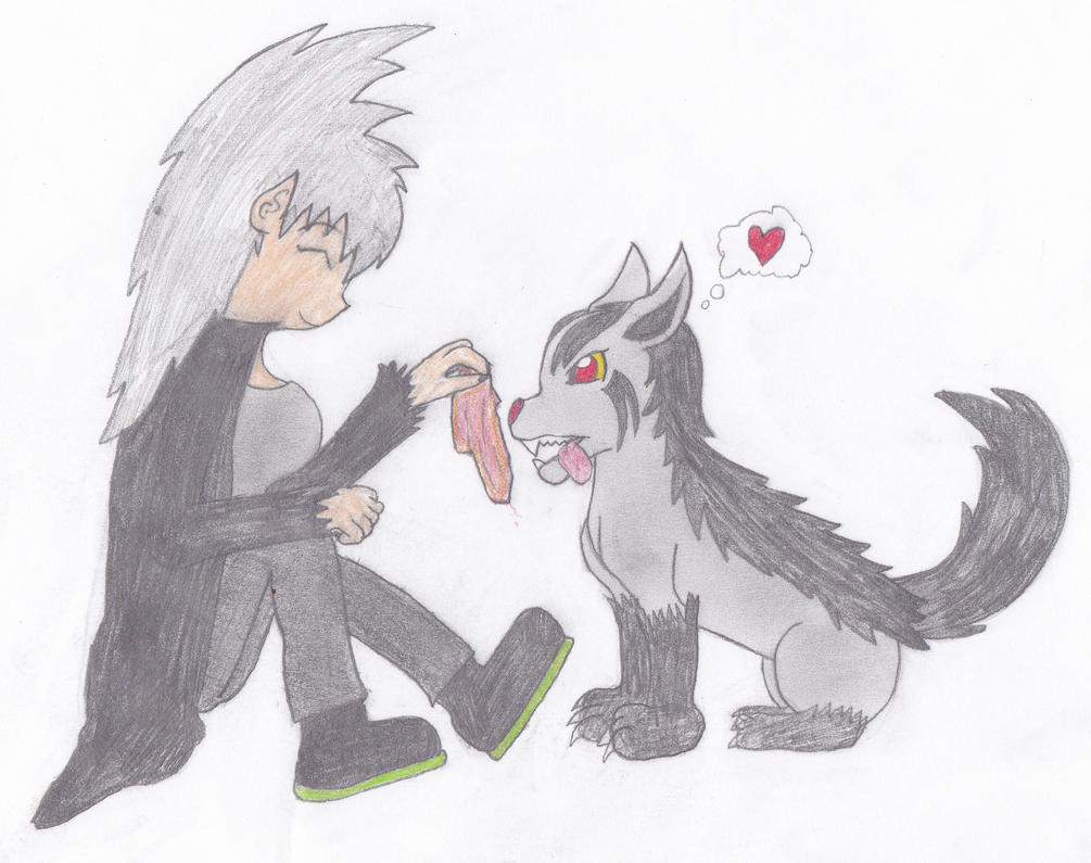 Here you go, buddy =AK + Okami= by Lover-Kitsune-Kitmi