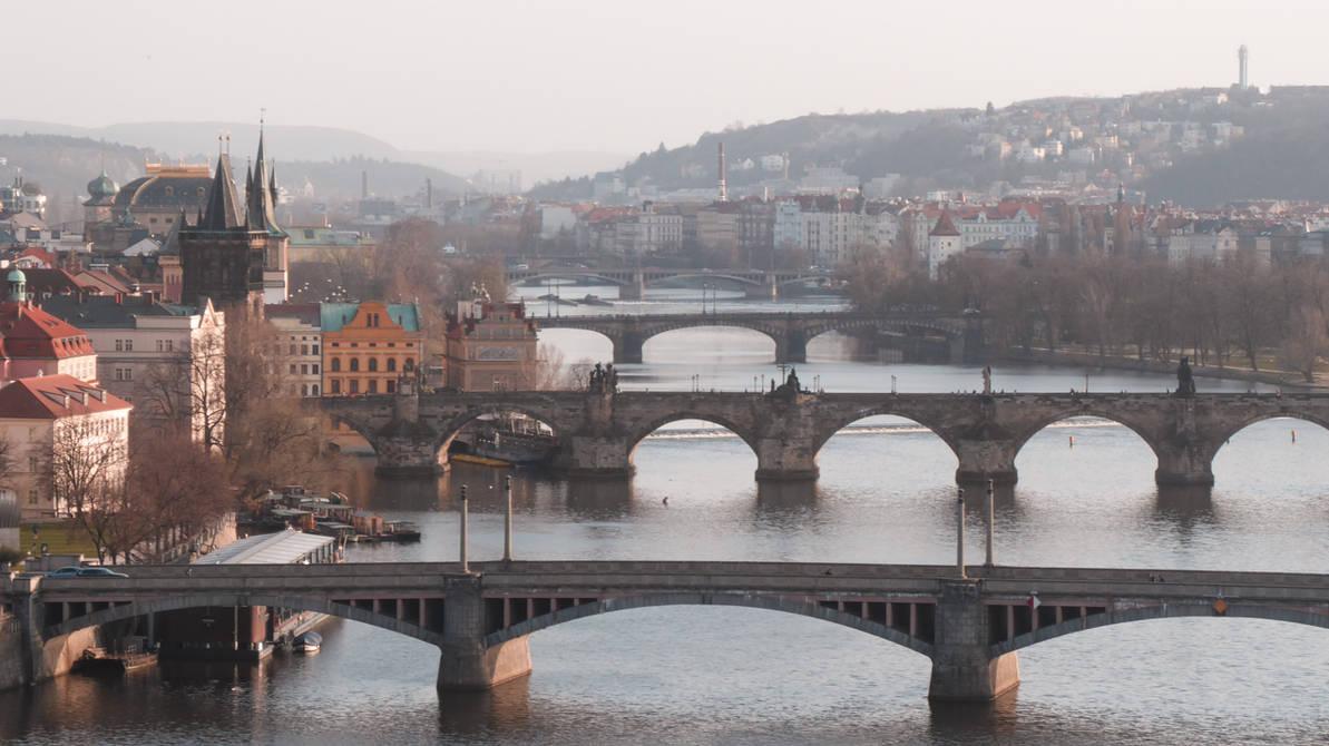 Prague bridges today by TOneil