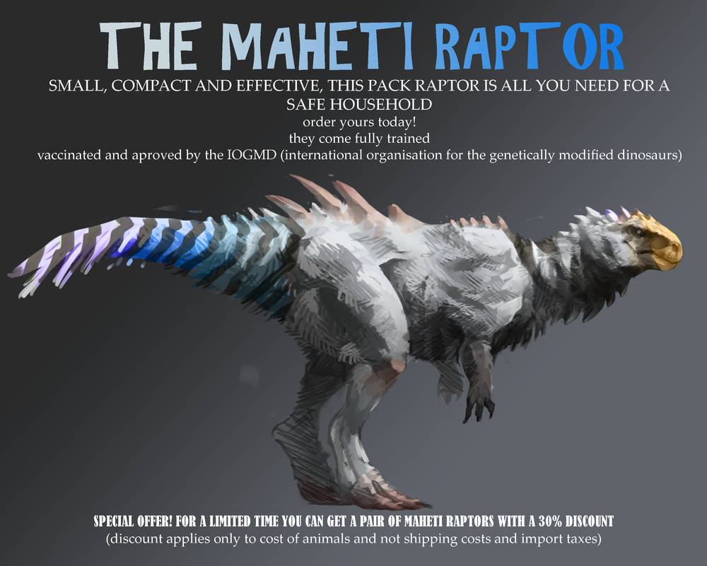 the maheti raptor (version 2) by rah-t on DeviantArt