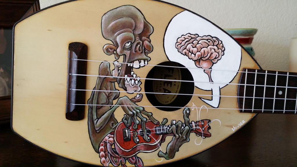 Painted Ukulele by ContemporaryCaveman