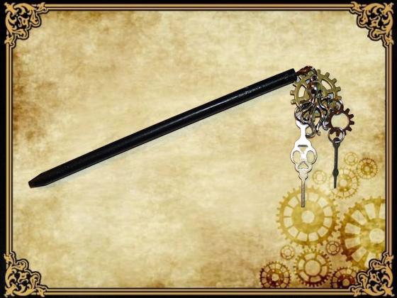 Baton pour cheveux Steampunk by Damiane