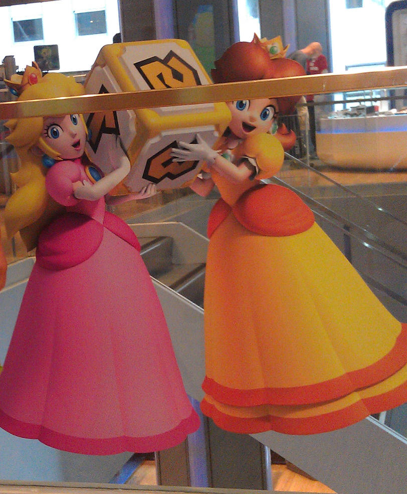 Peach and Daisy at Nintendo world! by PrincessDaisyRocks10