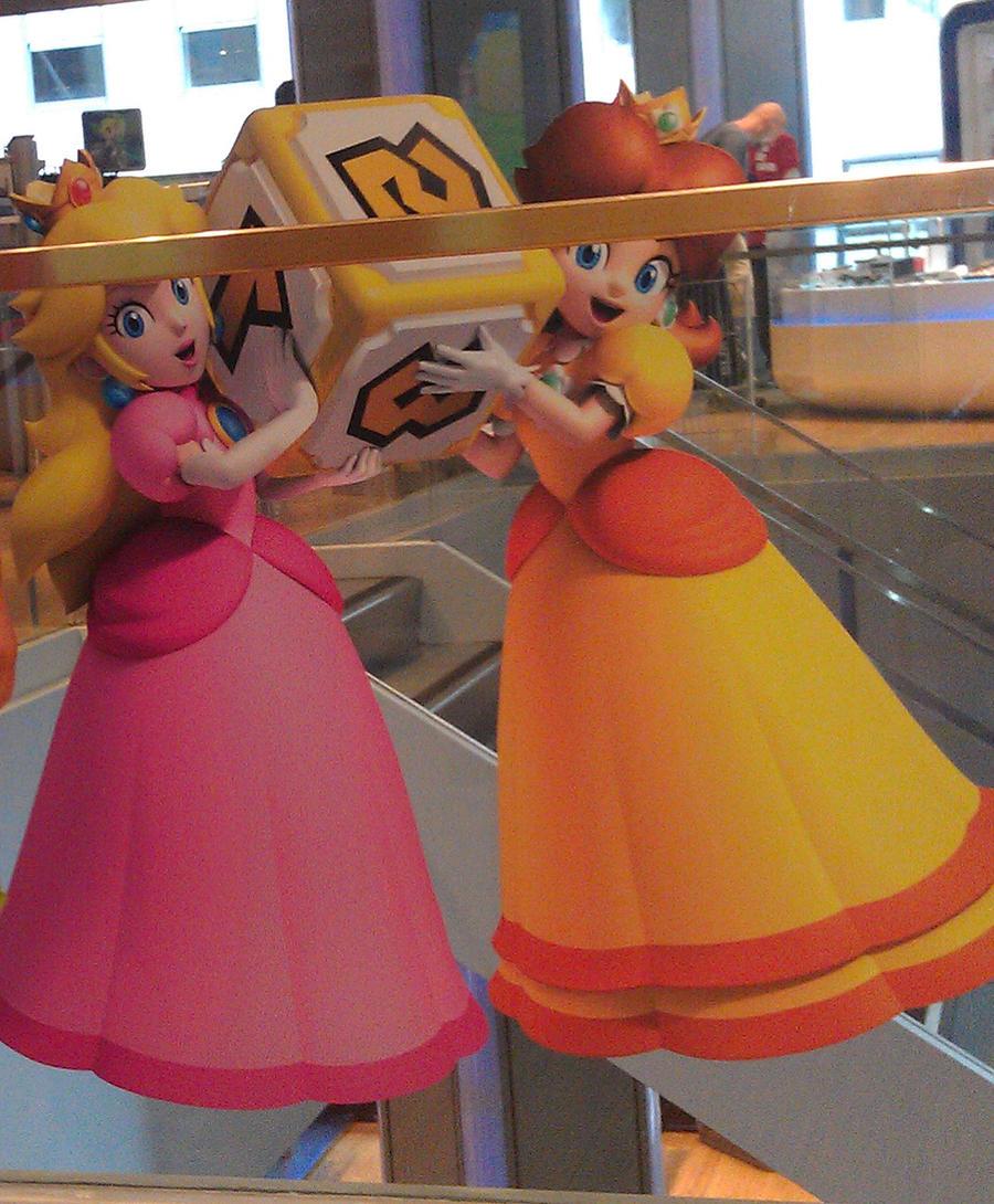 Peach and Daisy at Nintendo world! by PrincessDaisyRocks10