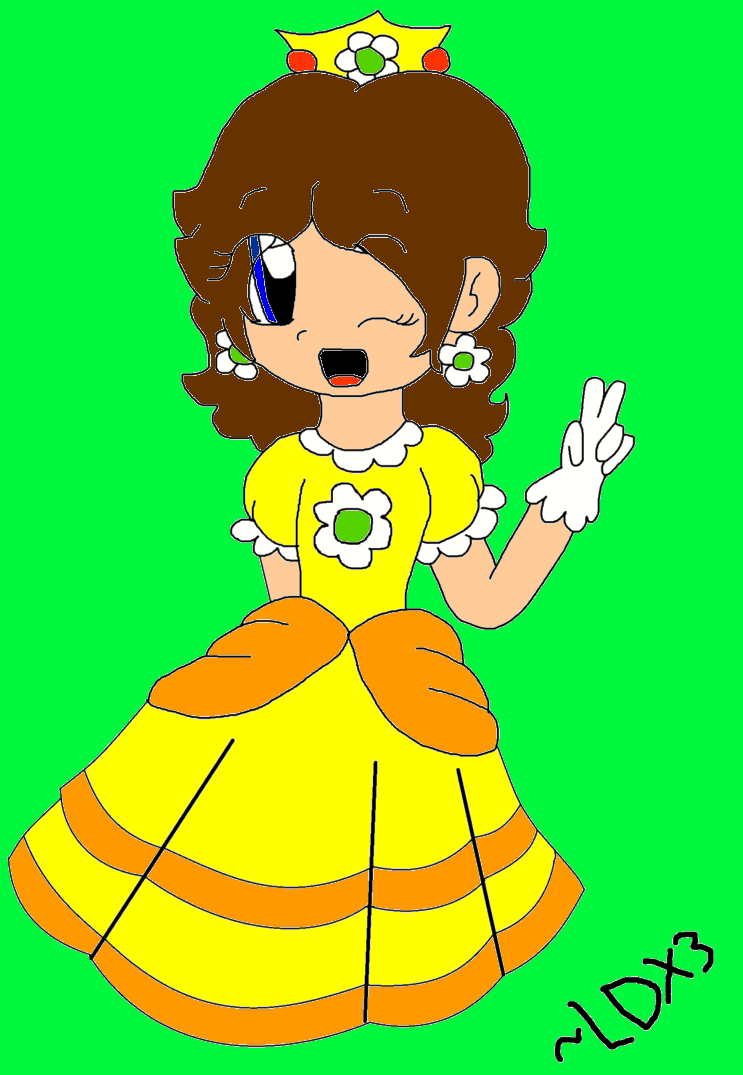 Princess Daisy colored lineart by LuigiDrawerX3 by PrincessDaisyRocks10
