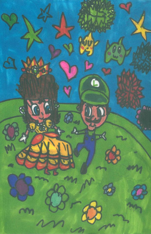 Daisy x Luigi-What a wonderful night by PrincessDaisyRocks10