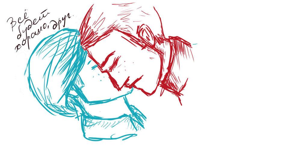 random Erik/Charles sketch by KeiSuperstar