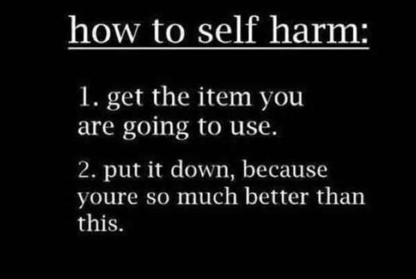 how to avoid self harm