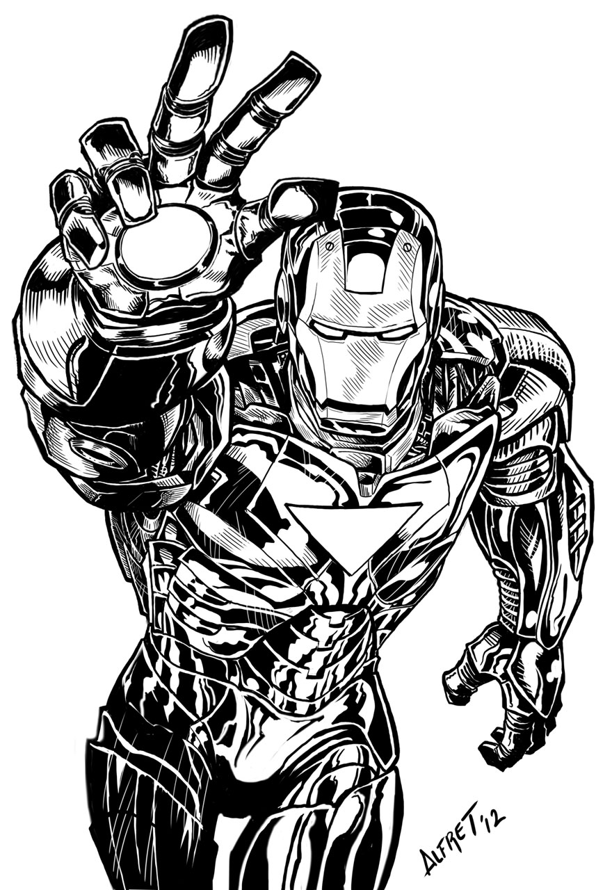 28 Ausmalbild Iron Man - Besten Bilder von ausmalbilder