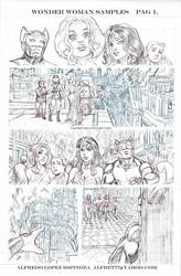 wonder woman sample page 1 by alfret