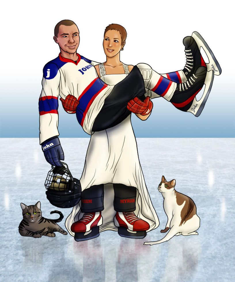 Ice Hockey Wedding by The-Mirrorball-Man