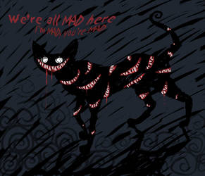 Cheshire Cat by The-Mirrorball-Man