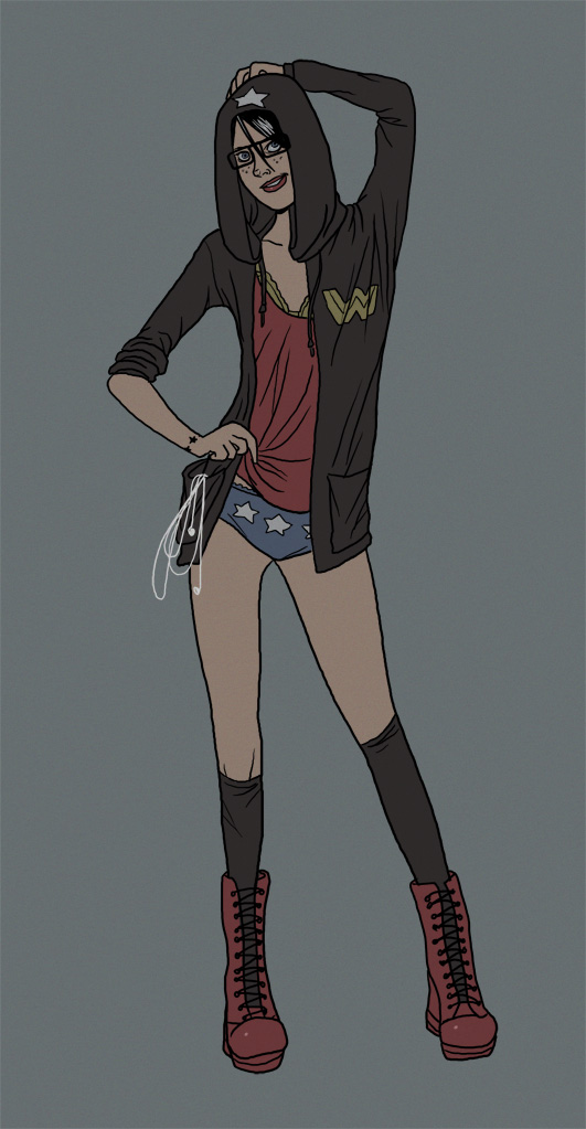 Hipster Wonder Woman by The-Mirrorball-Man