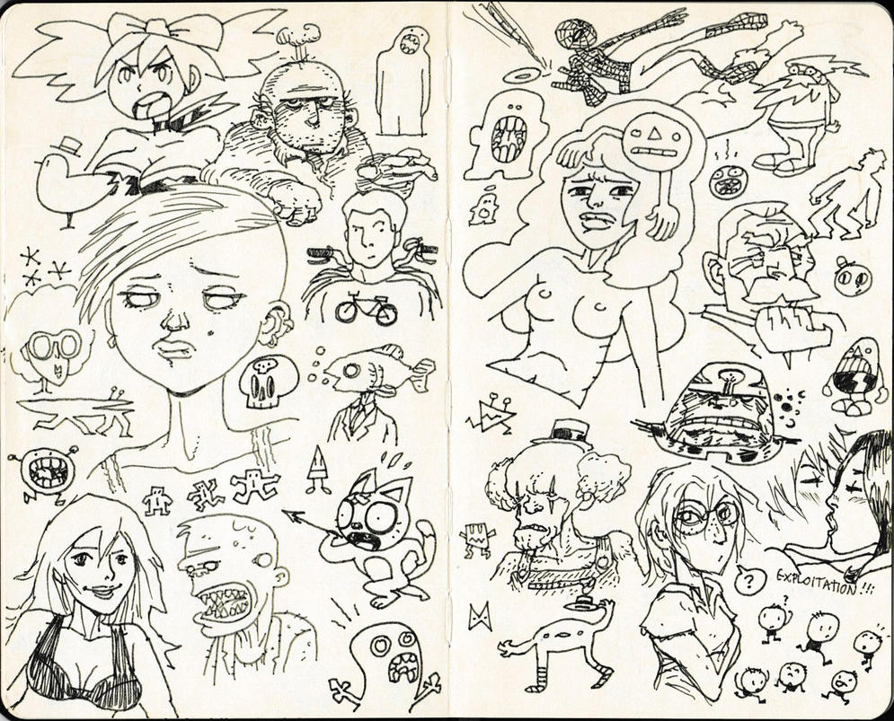Sketchbook 3 by The-Mirrorball-Man