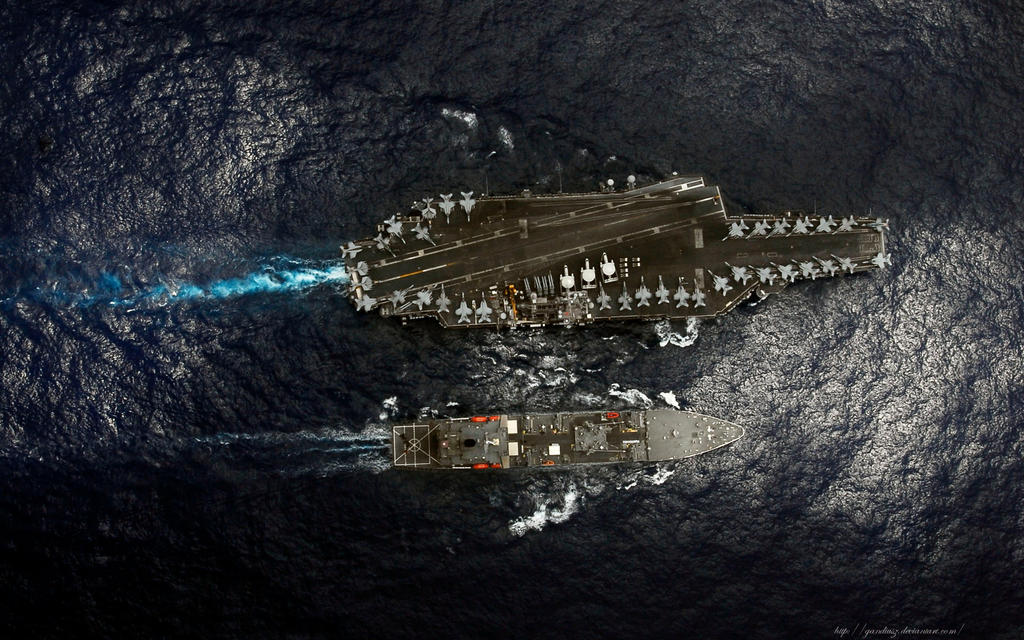 USS Kitty Hawk CV-63 01. by gandiusz