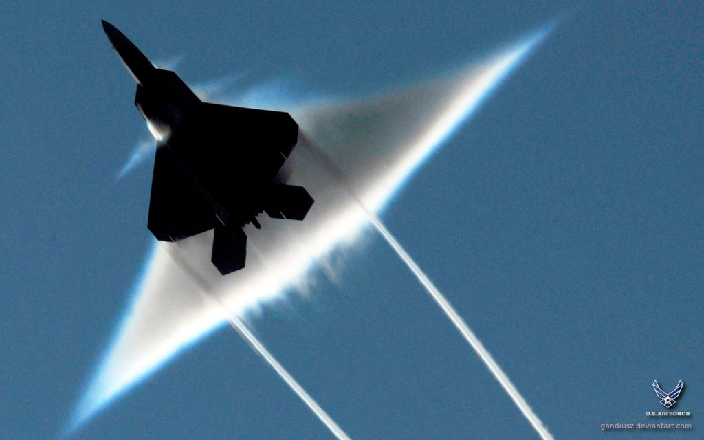F-22 Raptor flyby by gandiusz