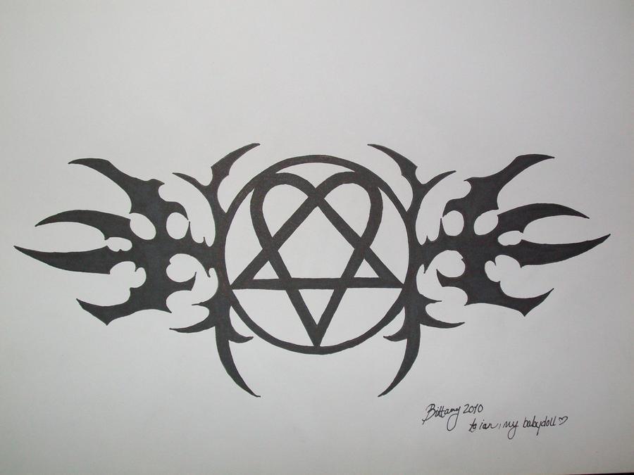 Ian 39s heartagram tattoo by indasbettschrei on deviantART