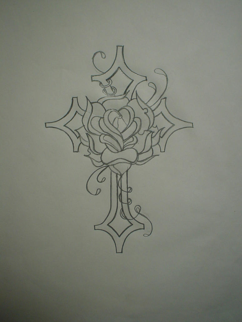 Mens cross tattoo with roses - Cross With Rose Tattoo For Men