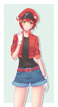 Red Blood Cell from Cells at Work! | Fanart by Bluvianna