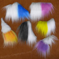 Airbrushed fakefur samples