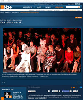 News Television N24 about Tushette at fashionshow