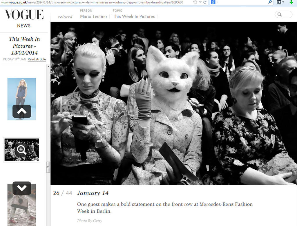 Tushette featured in VOGUE magazine by Mystic-Creatures