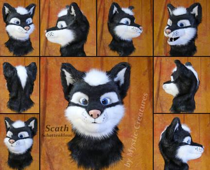 Scath Schattenklaue - Partial fursuit wolf head