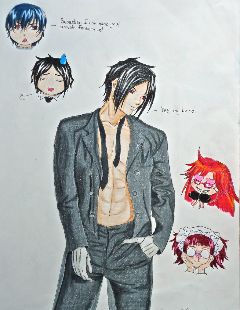 The Butler, Most Attractive - Colour by Shinigami-no-Miko