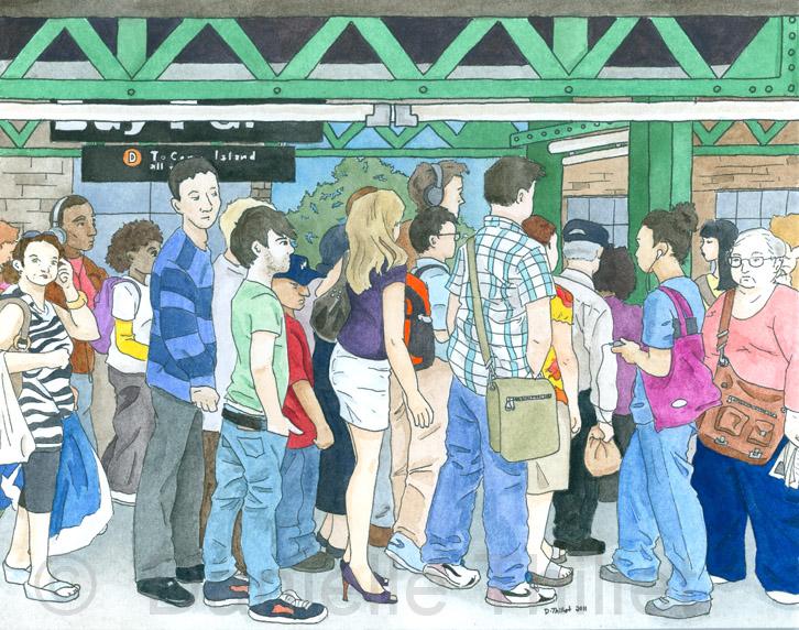 Coney Island Bound D Train By Personalgenius On Deviantart