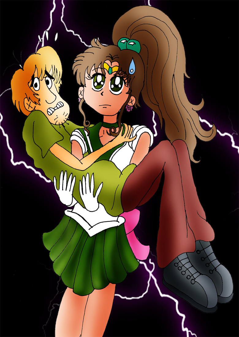 Sailor Moon Crossovers Sailor_Jupiter_and_Shaggy_by_ZeFrenchM