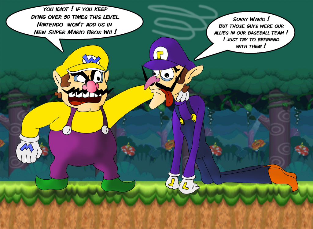 wario and waluigi nsmbw by zefrenchm-d4zvate pngWario And Waluigi Wallpaper