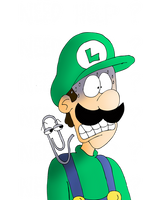 Luigi and Clippy by ZeFrenchM
