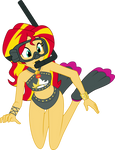 Equestriaquatica #06 Sunset Shimmer by ZeFrenchM