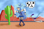 Aqua and the cactus by ZeFrenchM