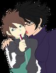 Bayonetta's present for Kazuma by ZeFrenchM