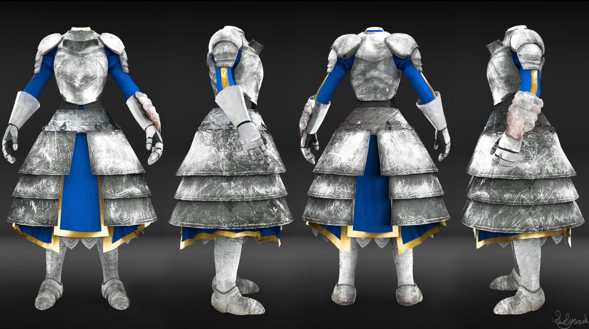 Artoria's Armor Skyrim Mod 3D Render by SolyWack on DeviantArt