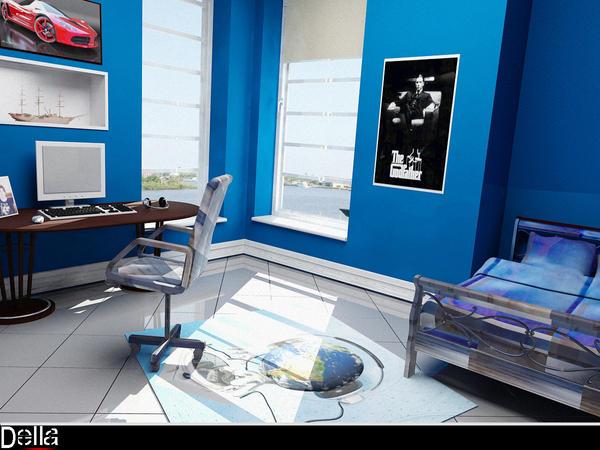 Blue Room by delaram on DeviantArt